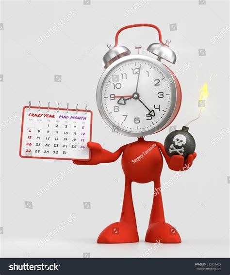 cartoons clock themes cartoon deadline alarm clock funny character stock