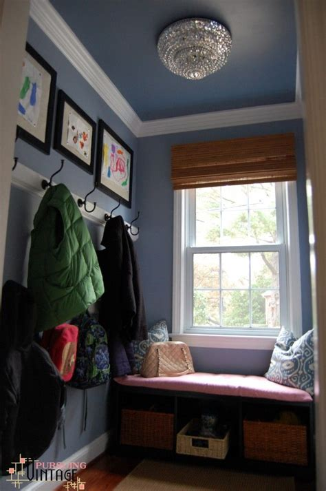 blue walls mudroom behr blue willow is a house