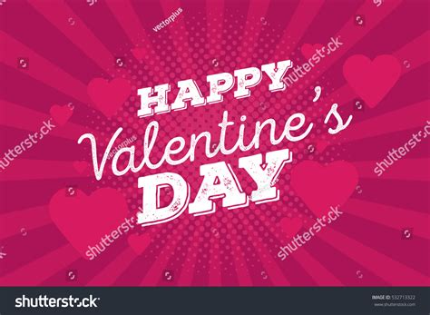 happy valentines day vintage happy valentines day vintage drawing stock vector