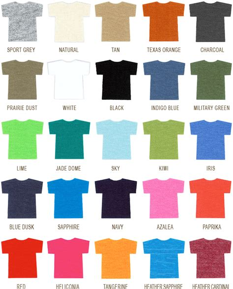 comfort colors colors chart highwind productions