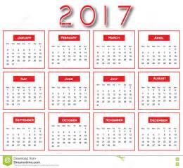 Luxembourg Calendario 2018 2017 Calendario Semplice Rosso Progettazione