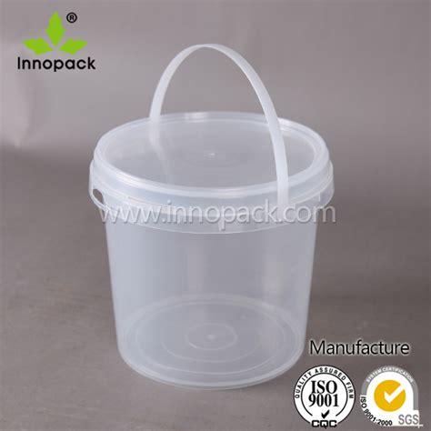 Yoghurt Probiotik 1 Liter effacer petit qualit 233 alimentaire pp plastique yogourt seau avec couvercle et poign 233 e tambours