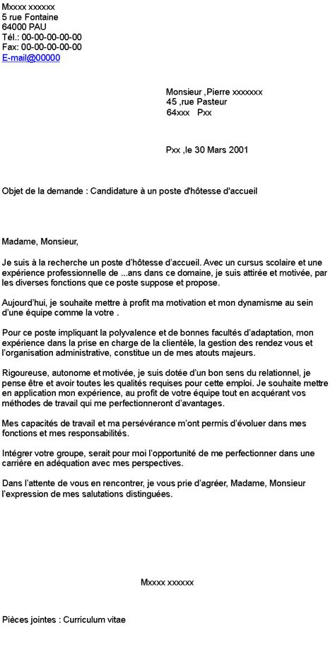 Lettre De Motivation Stage Hotesse D Accueil Ppt Lettre De Motivation Cantine Scolaire Debutant