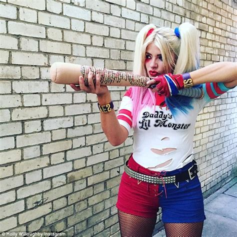 celebrity juice halloween special holly holly willoughby wears harley quinn outfit while filming