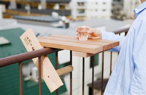 fantastic idea for a small balcony a small table for