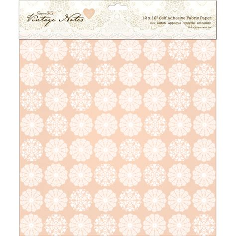 Fabric Paper - papermania vintage notes filigree self adhesive fabric