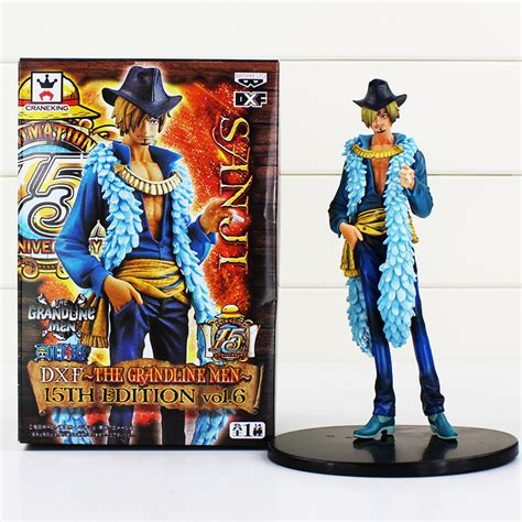 1 Set Sanji Yonji Barto Figure anime one sanji figure 15th edition vo1 6 pvc figures collrctible model doll
