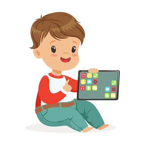 imagenes de niños jugando tablet smiling little boy sitting on the floor and playing with