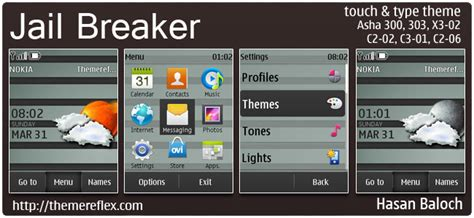 nokia c2 ke themes jail breaker live theme for nokia c1 01 c2 00 110 112