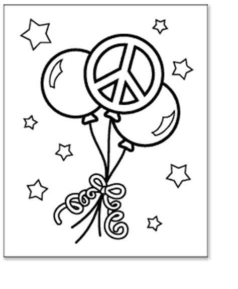 free coloring pages of peace sign hearts 16809