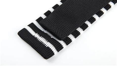 G1520 Setelan Am Stripe Black White knitted narrow striped black white tie chicerman