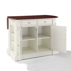 Bar Kitchen Island drop leaf breakfast bar top kitchen island in white efurniture mart