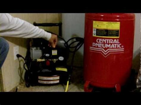 noise level of a home use air compressor harbor freight vs cbell hausfeld