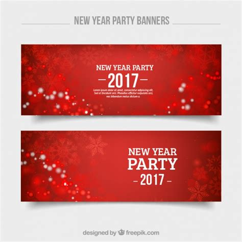 free vector new year banner new year banners with snowflakes vector free