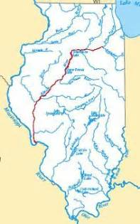 Map Of Illinois Rivers by Illinois River Map