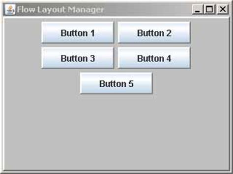 flow layout manager java cs 221