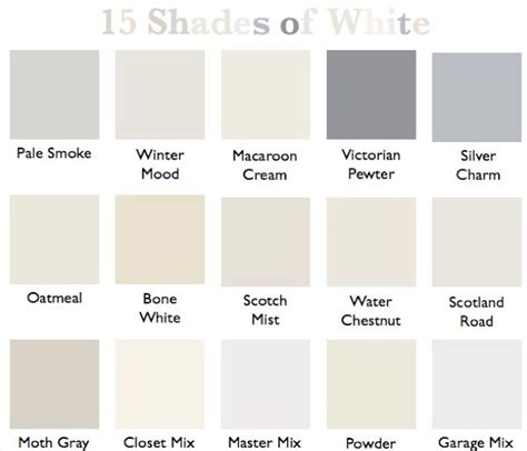 white color names 15 shades of white white decor ideas white paint