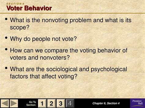 chapter 6 section 4 voter behavior quiz answers ppt magruder s american government powerpoint