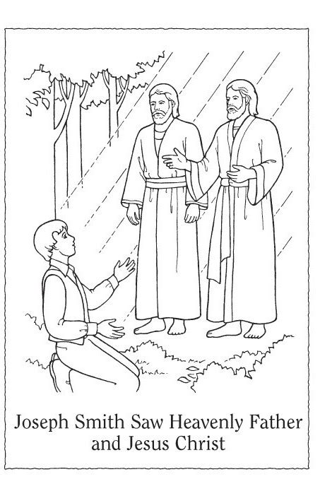 coloring pages joseph smith s first vision fortify the children lesson 21 joseph smith saw heavenly