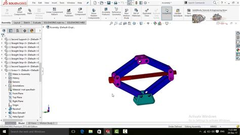 solidworks animation tutorial youtube design and animation tutorial of car jack in solidworks