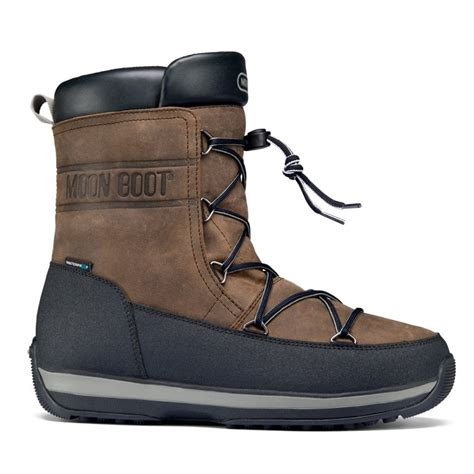 mens moon boots uk moonboot moon boot mens lem lea brown black mens own moon