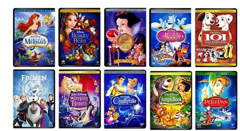 film disney dvd 10 disney dvds lot beauty and the beast aladdin