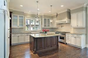 Kitchen Two Tone Cabinets Pictures Of Kitchens Traditional Two Tone Kitchen Cabinets Kitchen 163