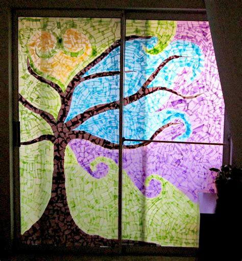 Stained Glass Paper Craft - stained glass pine tree patterns www pixshark