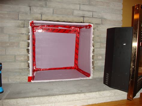 fireplace insulation ventilation and hvac air duct