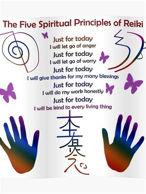 principles  reiki poster  frankey craig reiki principles energy healing reiki