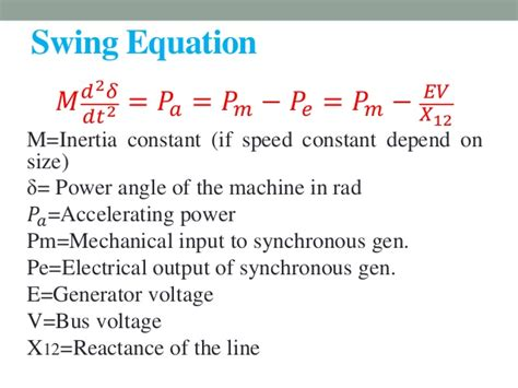 swing equation power swing equation 28 images in a three power