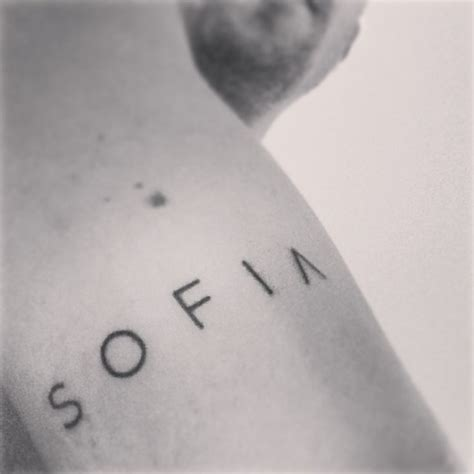 sofia custom font tattoo tattoos pinterest custom