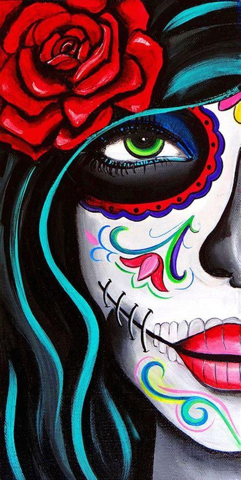 green eyes  melody smith mexican sugar skull woman