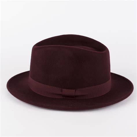 Handmade Felt Hats - 100 wool felt fedora hat with grosgrain band handmade in