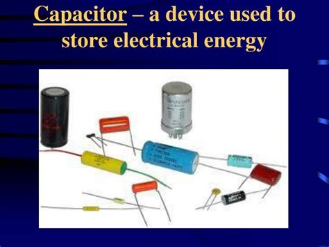 how do capacitors store electrical energy ppt electric fields and potential powerpoint presentation id 6845870