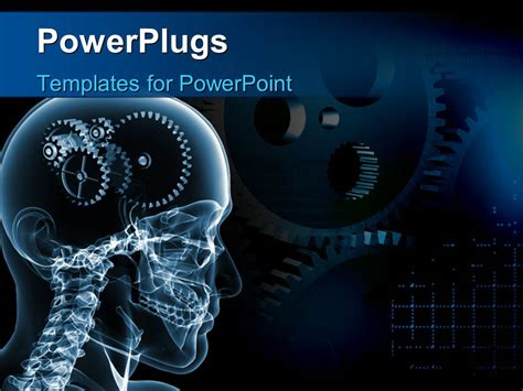 powerpoint templates engineering powerpoint template skull with a number of gears 3991