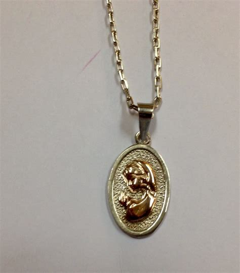 cadenas de oro religiosas conjunto cadena de plata fina medalla virgen ni 241 a plata