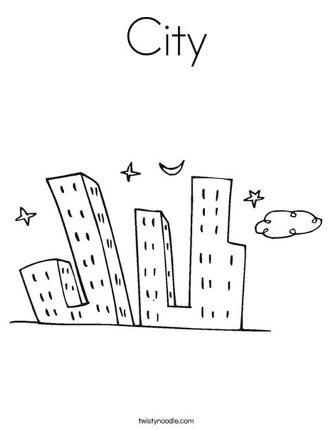 City Coloring Page Twisty Noodle City Coloring Pages