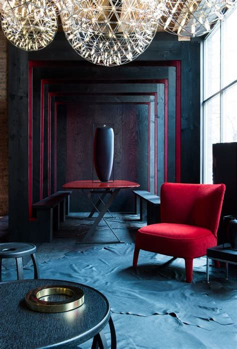 interior design red walls stunning velvet red interior for decorating ideas