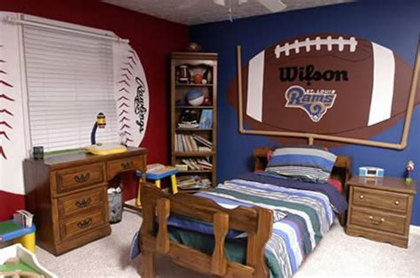 football themed bedrooms kids room boys sport kids football room easy decorating