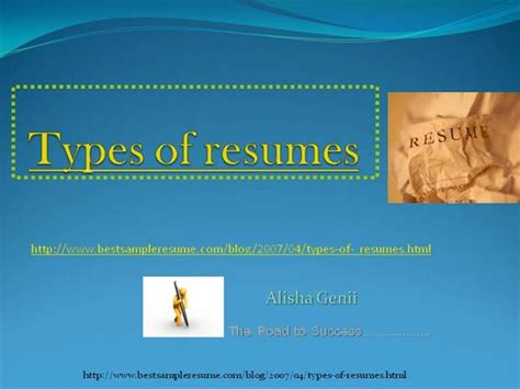 types of resumes tips for an authorstream