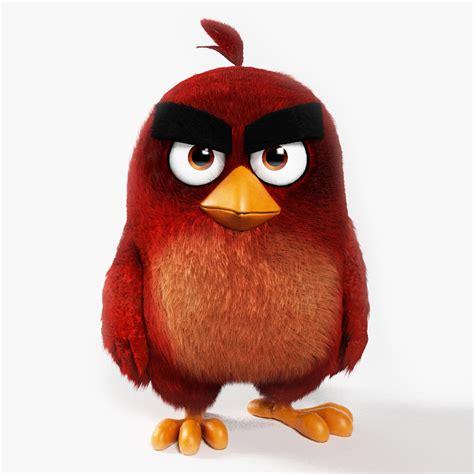 Kaos 3d Umakuka Angry Bird 3d realistic angry birds model