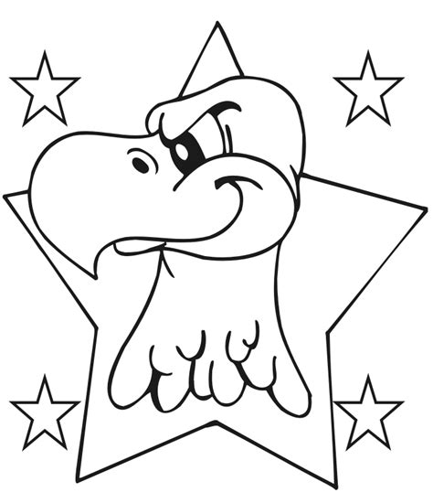 coloring pages of the american eagle eagle coloring page an eagle in a 5 point star