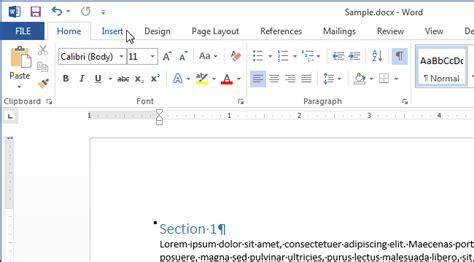 Word 2013 Section by C 243 Mo A 241 Adir Un Encabezado O Pie De P 225 A Un Documento Word