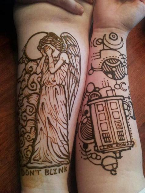 doctor who tattoos weeping doctor who related
