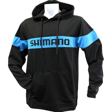 shimano escudo pullover hoodie black tackledirect