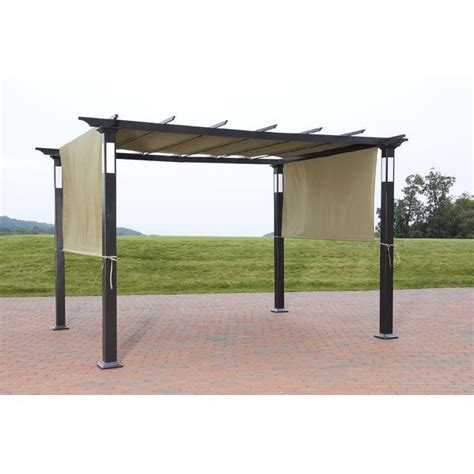 8 x 10 canopy gazebo new 8 x 10 led lighting steel pergola garden patio gazebo
