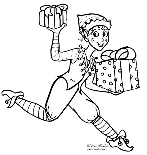 coloring page of a girl elf elf on the shelf color pages free coloring pages