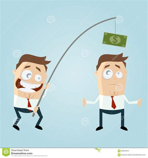 Fish For Money Gift Card - funny businessman with money on fishing rod stock vector image 56694944