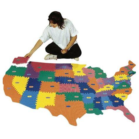 usa map floor puzzle foam foam puzzle map flaghouse